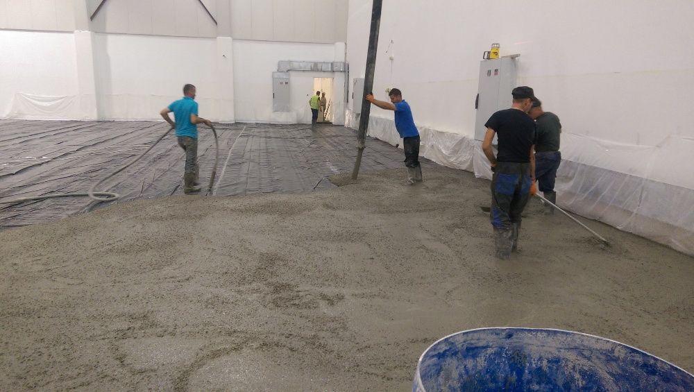 Pardoseli industriale din beton elicopterizat sau rășini epoxidice