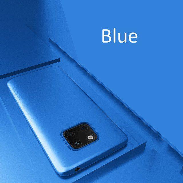 Husa Subtire X Level Din Silicon Neagra, Albastra - Huawei Mate 20 Pro