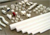 Трубы и фитинги из белого полипропилена