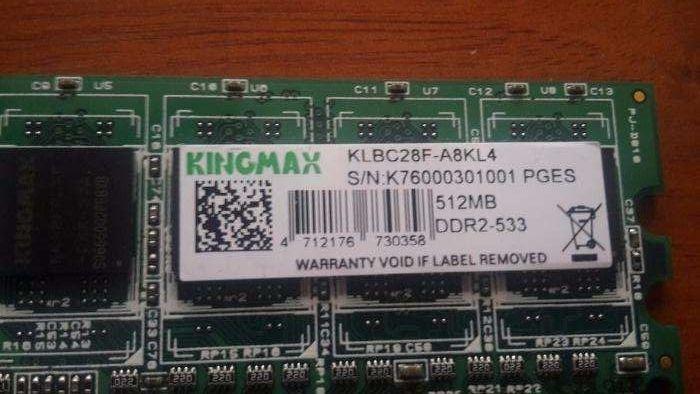 Memorie RAM 512 Mb Kingmax ddr2-533