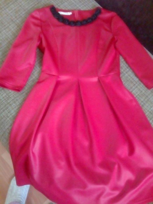 Платье, имитация кожи, 44 размер