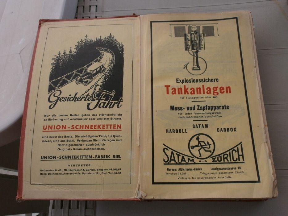 Антика 1933 Пътеводител Швейцария (за Автомобилисти)