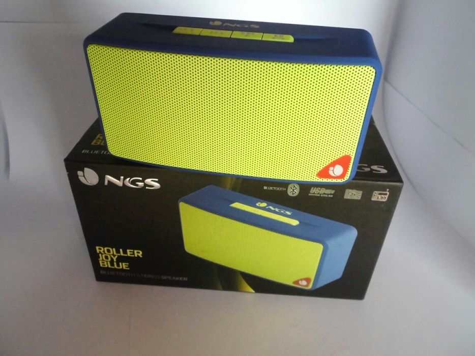 Coluna Bluetooth, rádio, pen drive (Nova)