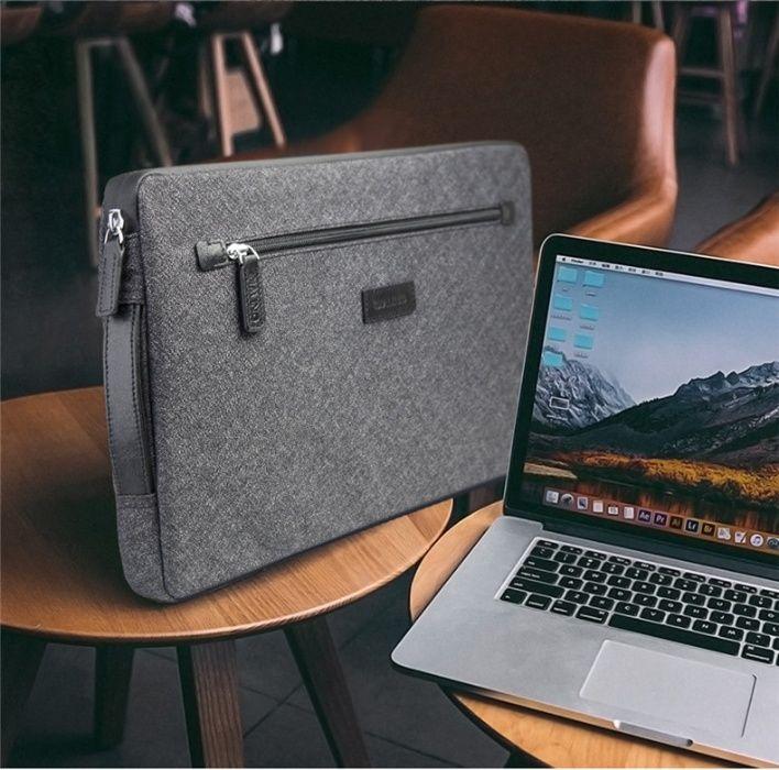 Husa geanta universala 13 inch piele + textil, Qialino MacBook,Surface