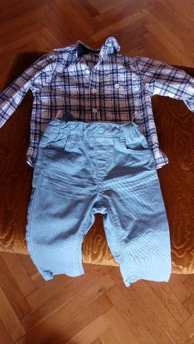 детска риза и панталони за 1година скарабей