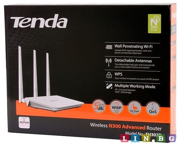 Router Wireless WiFi Tenda 300 Mbps 3 Antene sigilat - NOU