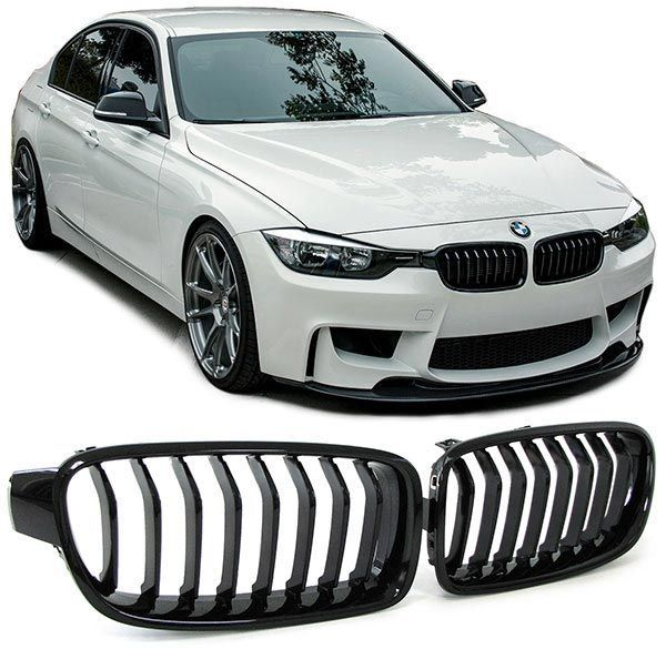 Grile BMW F30 F31 PERFORMANCE look - finisaj negru lucios