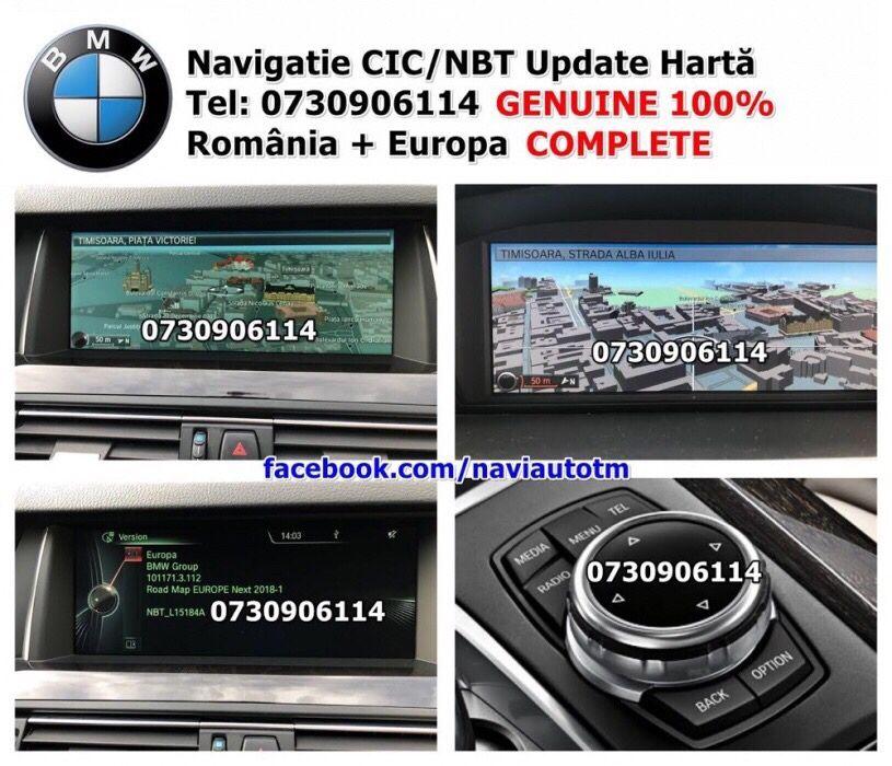 Harti USB BMW 2019 CIC,NBT 1,3,5,6,7,X5,X6 E90,E60,E70,F15,F10,F30,F01