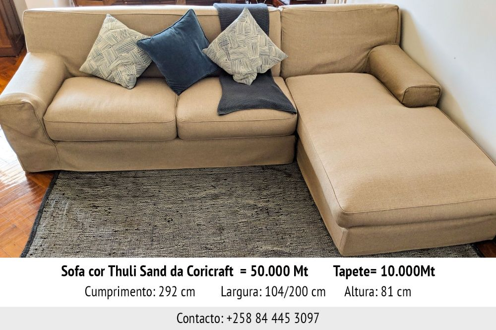 Sofa cor de areia