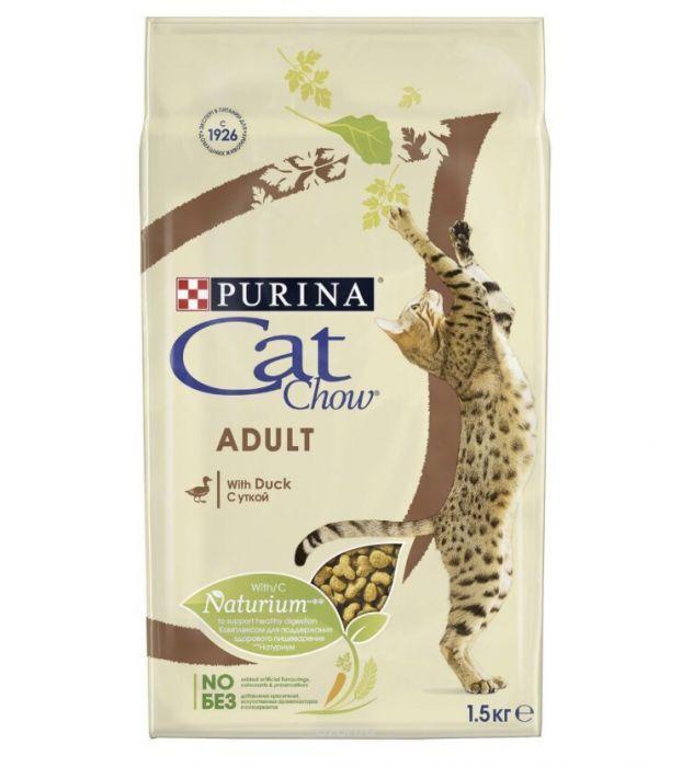 Продам корм для взрослых кошек Cat Chow(Кэт Чау) со вкусом утки!