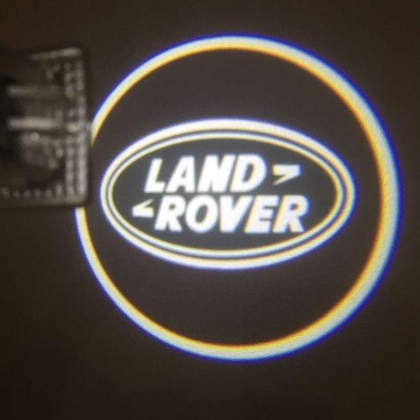 Lampi logo LED portiere dedicat LAND ROVER set 2 bucati