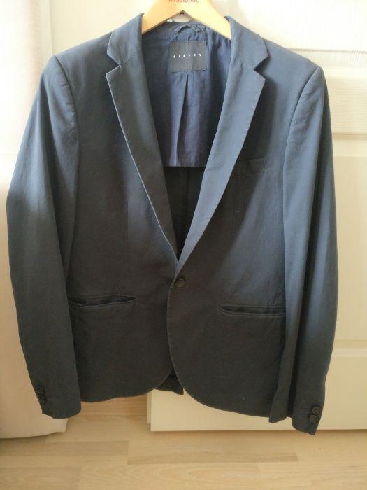 Sacou casual Sisley, culoare gri - bleumarin, marimea 50