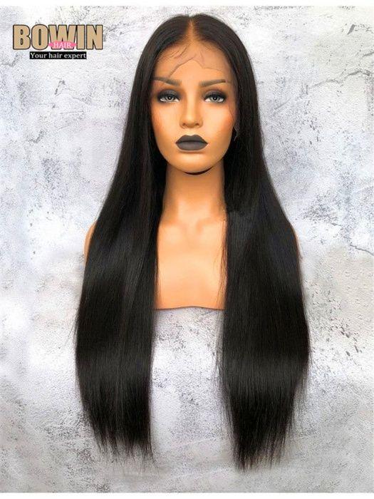 Peruca front lace cabelo brasileiro virgem liso, Tam. 16, 18, 20, 22