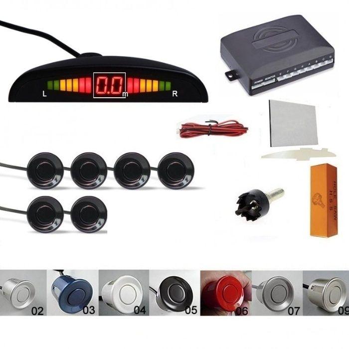 Senzori parcare afisaj display LED avertizare sonora fata spate 6 senz
