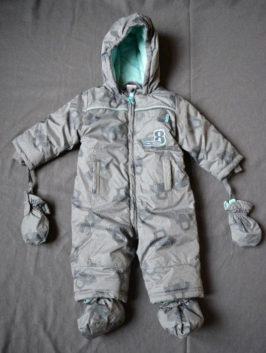 Costum iarna jacheta pantaloni copii Coccodrillo, 74/6-9 luni, nou!