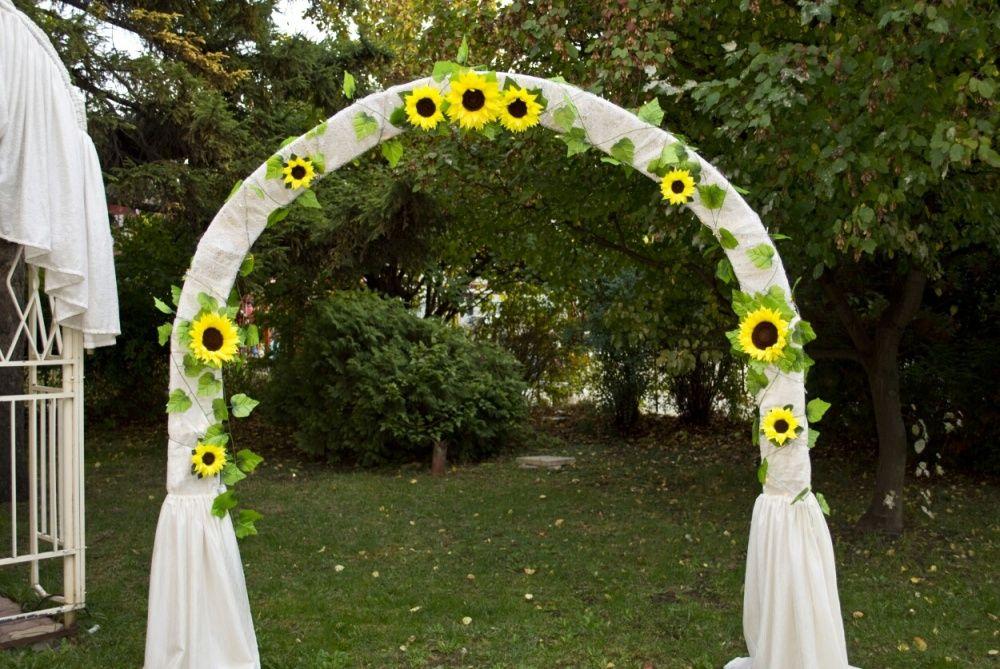 Украса за сватба/кръщене слънчогледи
