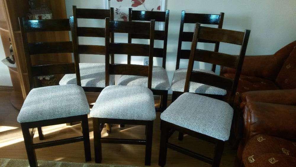 Set 6 scaune lemn culoare mahon