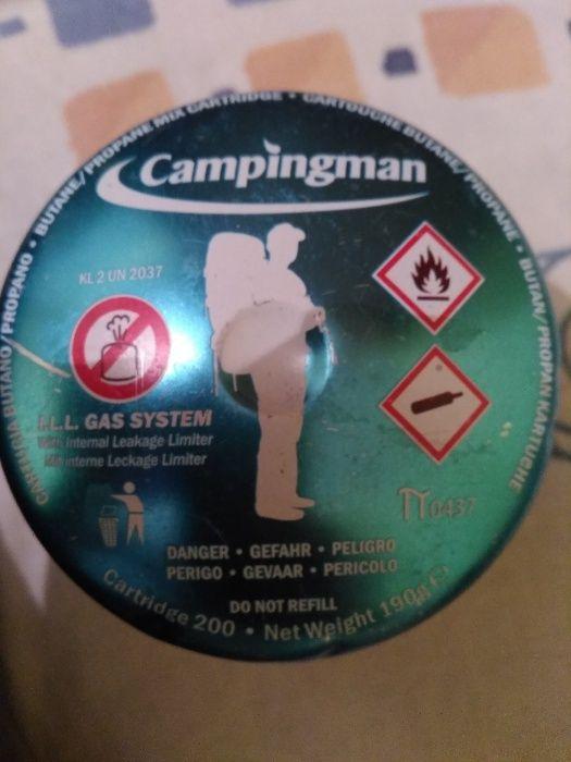 Butelie gaz Campingman pt excursii, cort, munte-190 g.Nou-made Germany