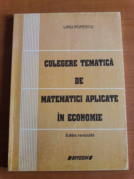 Culegere tematica de matematici aplicate in economie