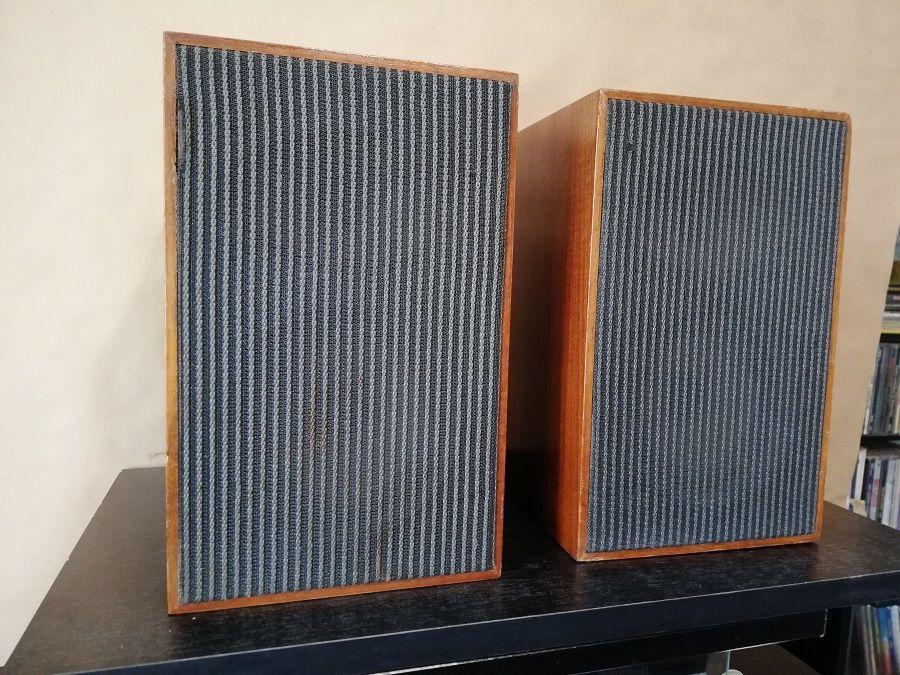 Set Boxe din Lemn Vintage pe Compresie - 2cai/Stare Perfecta/RFG