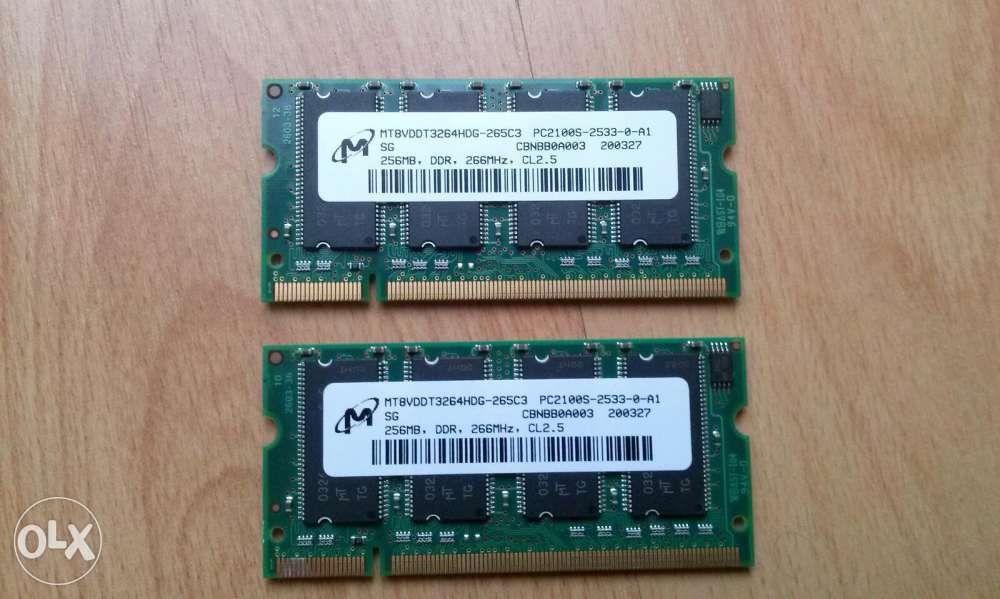 RAM DDR1 512 MB laptop
