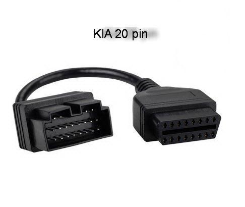 OBD2 Кабель переходник для KIA 20 PIN Адаптер 16 PIN OBD2