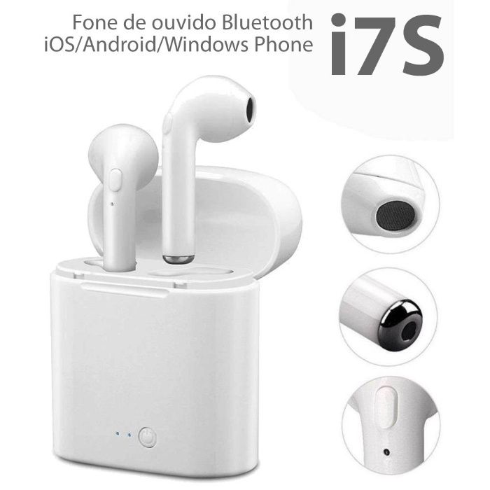 vendo auriculares sem fios i7s bluetooth (wireless) android,ios,windw