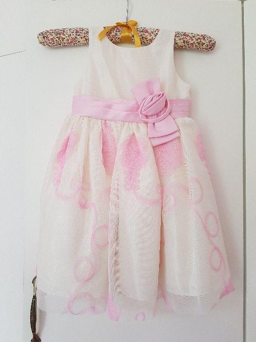 Официална маркова детска рокля за шаферка/кръщене 3-4г Jayne Copela