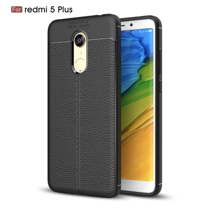 Husa Xiaomi Redmi Note 5 / Redmi 5 Plus - Gel TPU Grain Black CUBZ