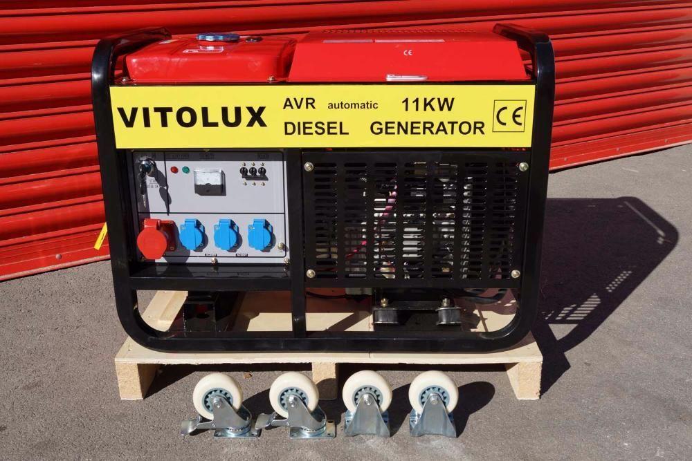 11 KW Дизелови Трифазни Генератори VITOLUX с електрически старт