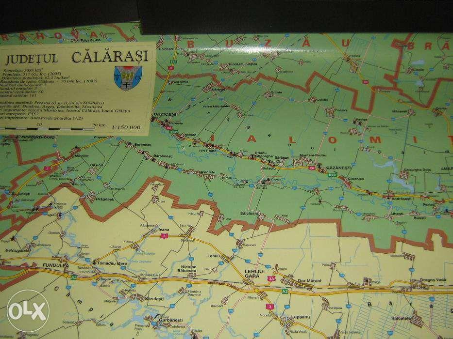 harta judet calarasi
