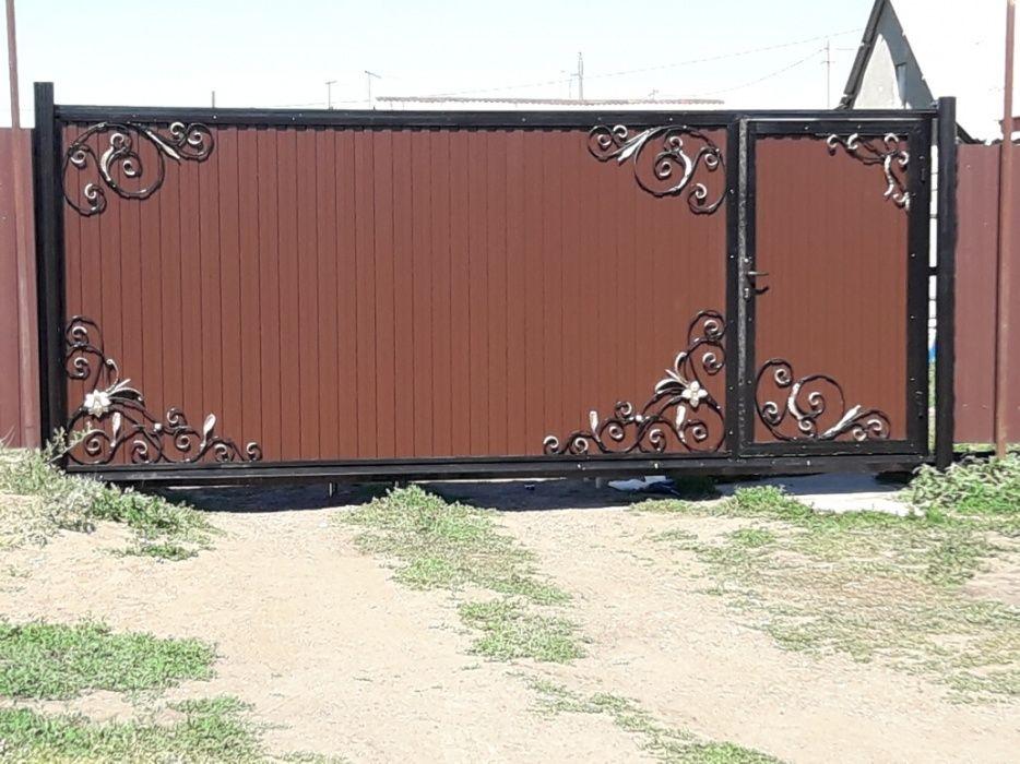 Откатные ворота (распашные можно переделать)