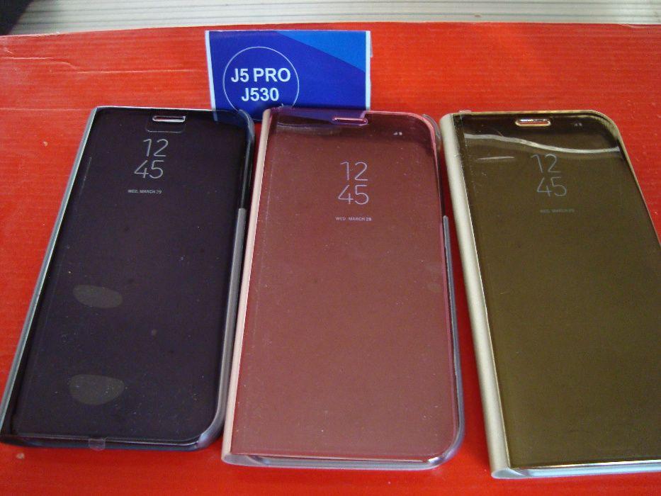 Husa Book Clear View compatibila Samsung Galaxy J5/J3(model 2017)