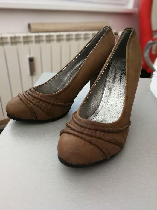 Кафеви дамски обувки с ток Roberto Zago, 39 номер