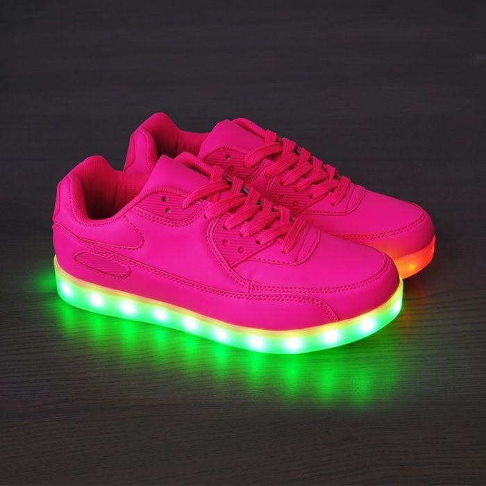 Adidasi cu LED / Leduri roz