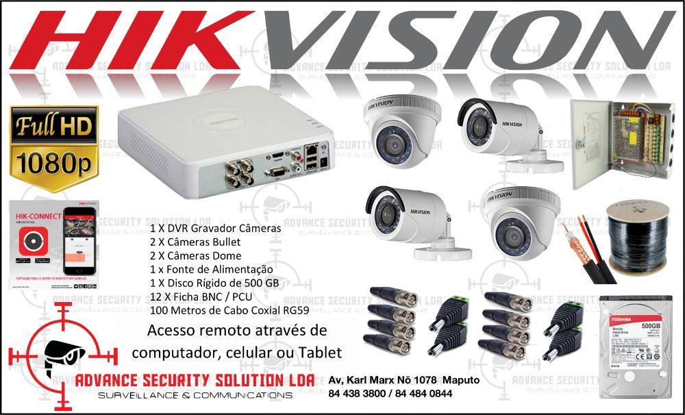 hikvision kit completo de 04 camears