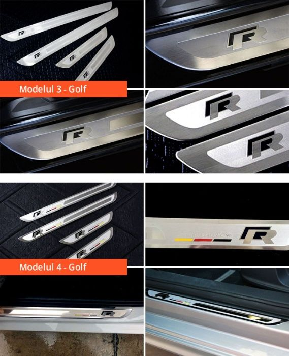 Ornamente inox praguri (9 modele) -VW Golf 4-7, Passat B6 B7 B8, Jetta Bucuresti - imagine 4
