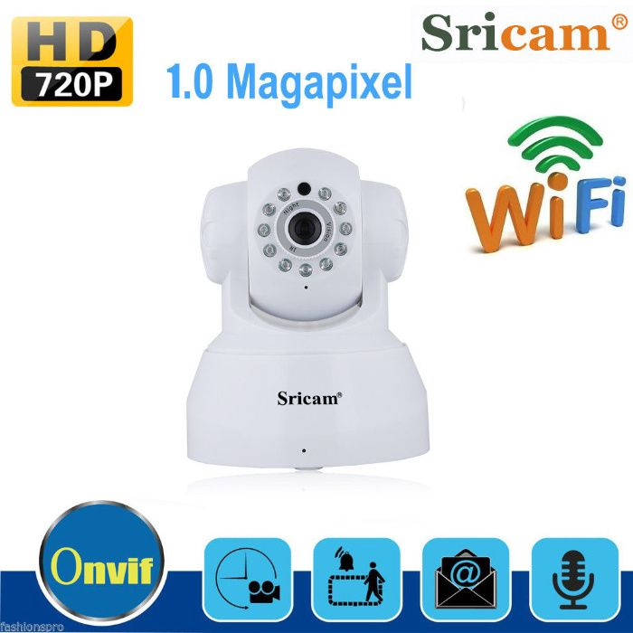 camera ip wireless hd 720P h264 sricam sp012 supraveghere copil casa n