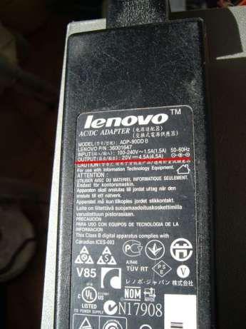 Зарядка-адаптер-блок питания от ноутбука LENOVO 20v 4,5А / 19v 4,74А к
