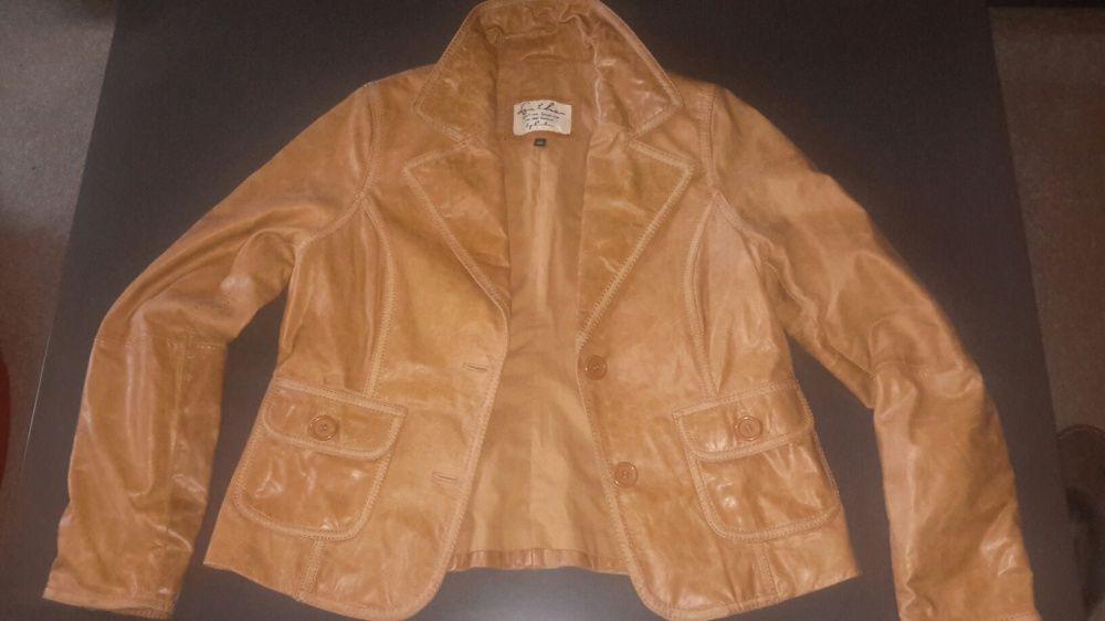 Дамско кожено и текстилно яке Leather и Moncler