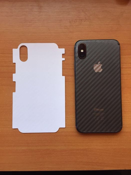 Vand folie spate carbon iphone X XS