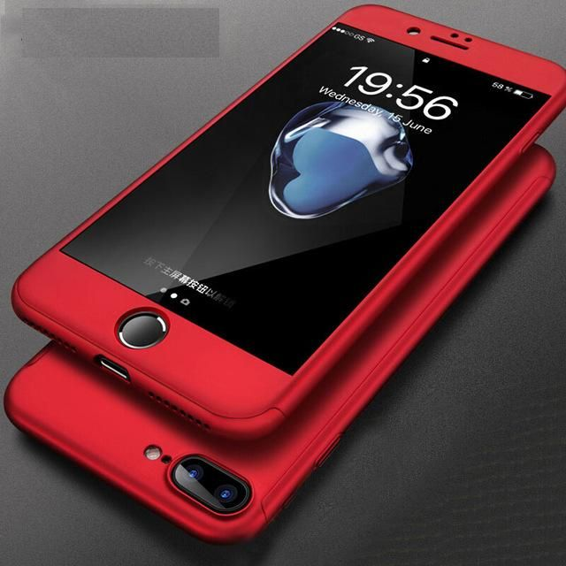 Husa 360 grade pentru iPhone 8 Plus Rosie