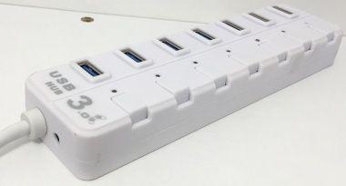HUB USB 3.0, 7 Porturi, Intrerupator Pt. Fiecare Port