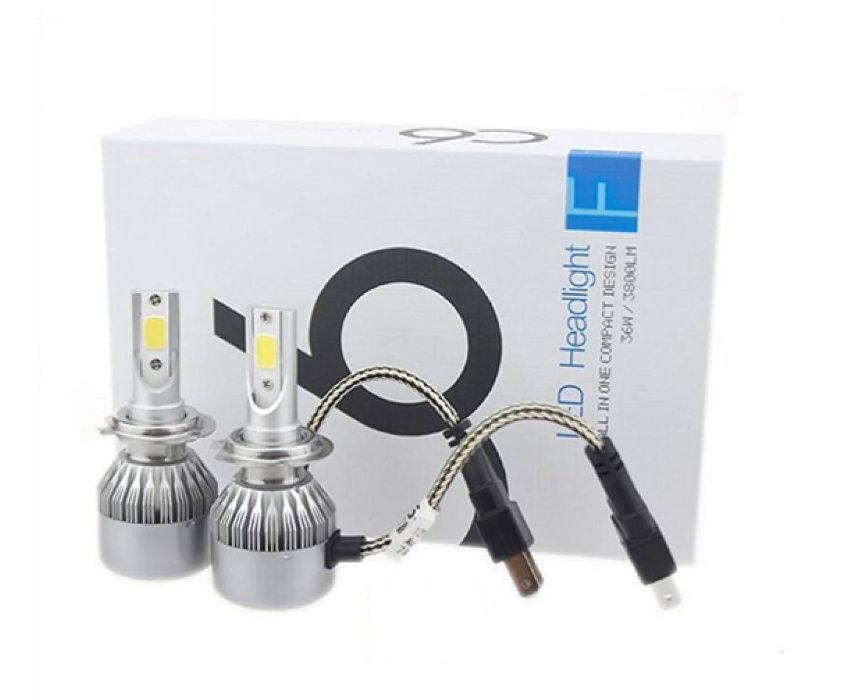 Комплект Диодни LED крушки за фарове/халогени H7 6000L 5500K