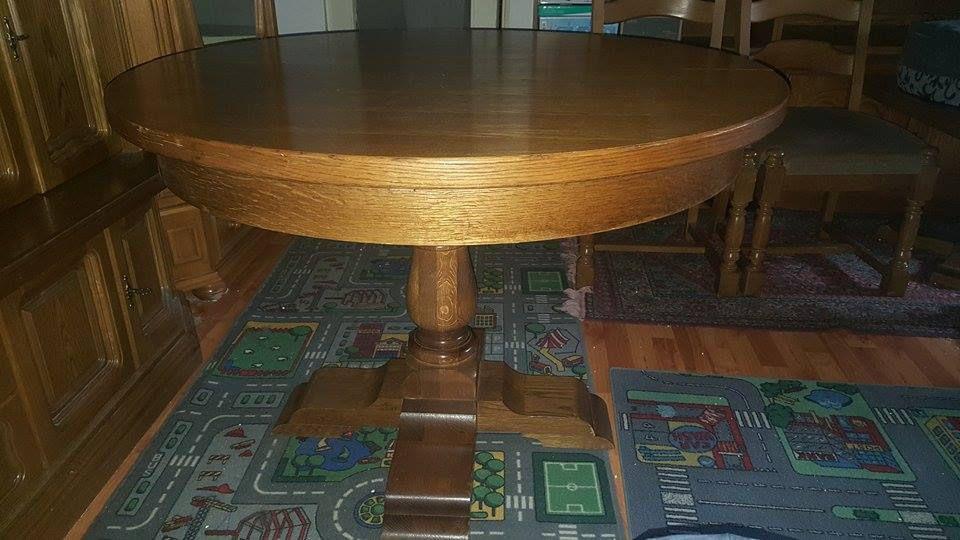 masa lemn masiv cu 3 scaune