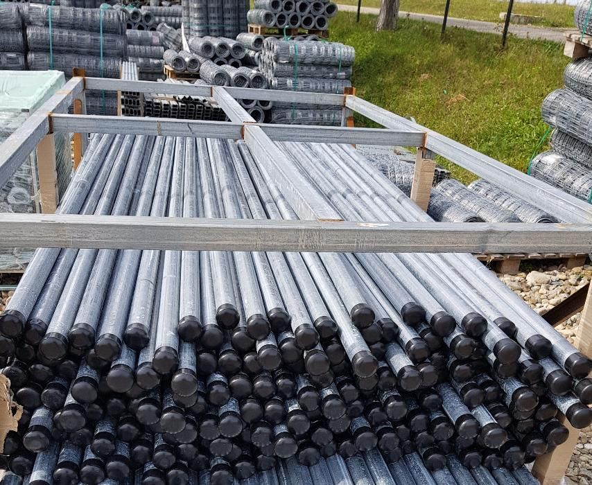 Stalpi gard zincati galvanizati rotunzi inaltime 200cm