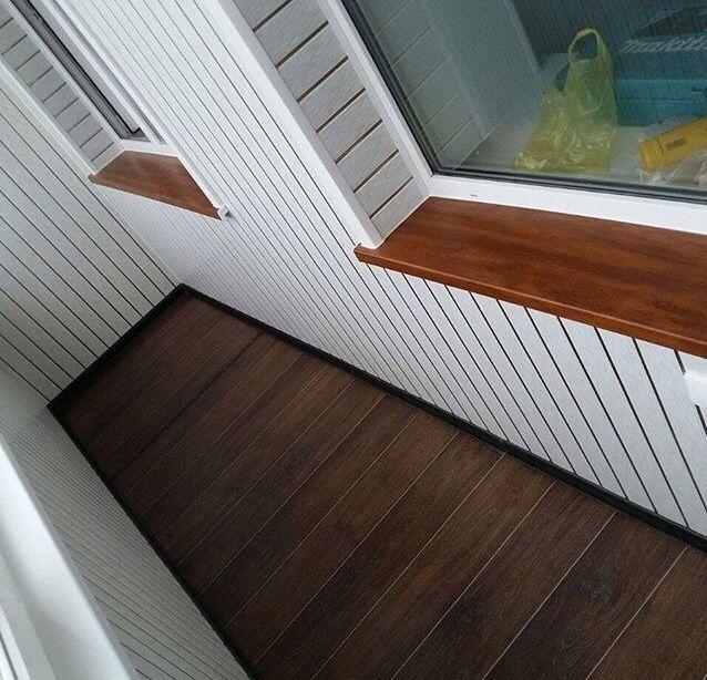 Обшивка балконов,ремонт пластиковых окон