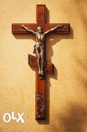Православный шестиконечный крест с распятием