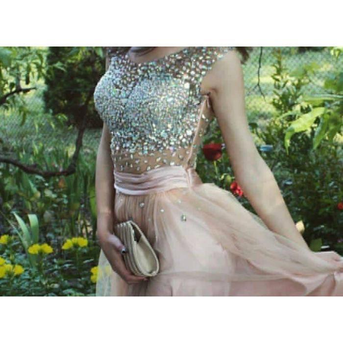 Бална рокля с камъни