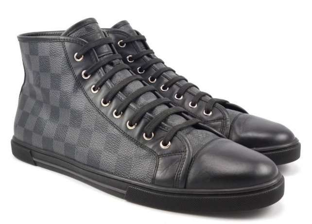 LOUIS VUITTON ,Damier High Top men sneakers !! Черен петък 30%